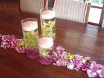 Wedding, Flowers, Reception, White, Green, Ceremony, Purple, Bridesmaids, Empora floral artistry, Centerpieces, floating candles, submerged orchids