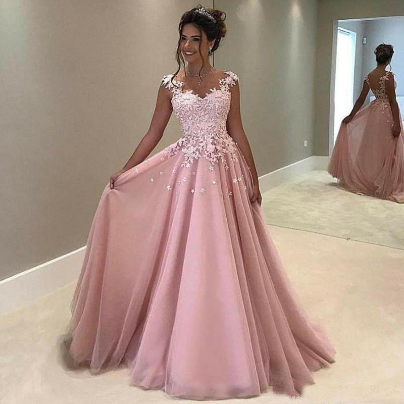 Details about dusty pink a line quinceanera dresses lace