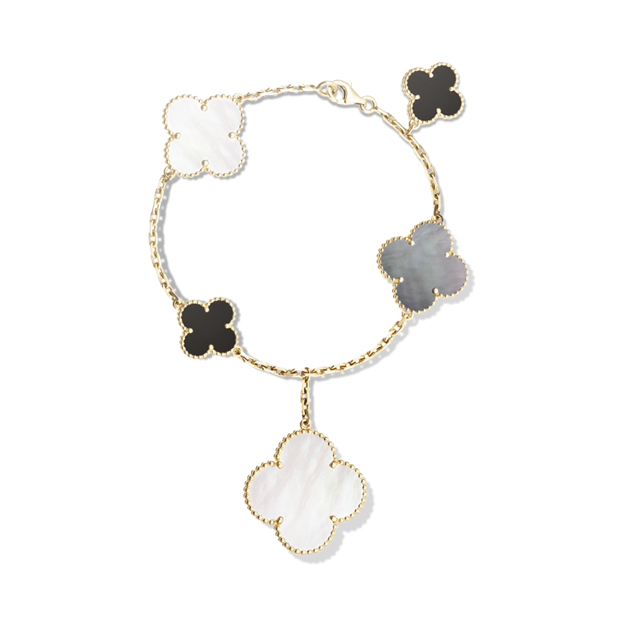 aa91943044f3 The Magic Alhambra collection introduces Van Cleef   Arpels  iconic motif  in a variation of sizes