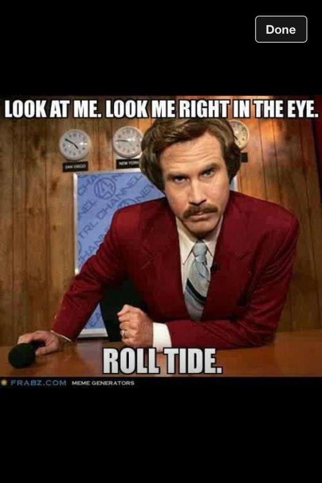 Will Ferrell Alabama Football Funny Happy Birthday Meme Funny Happy Happy Birthday Meme