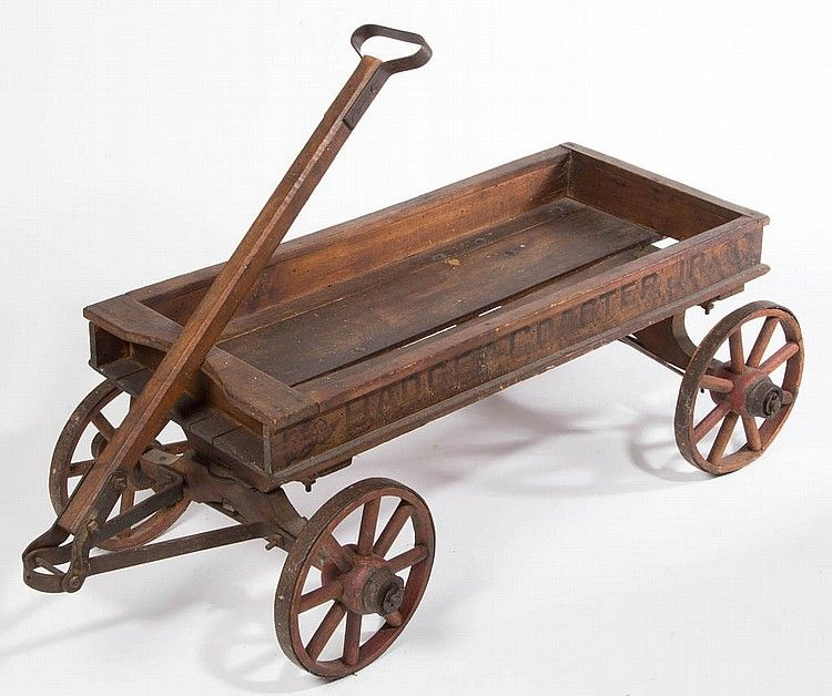 Badger Coaster Jr Wooden Wagon Late 19th C Vintage Wagons