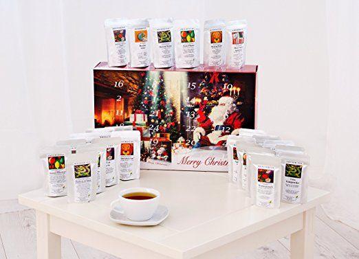 Tee - Adventskalender - 24 x Winterlicher Tee aus aller Welt und von jeder Sorte! (Rot) (100g/4,98€)