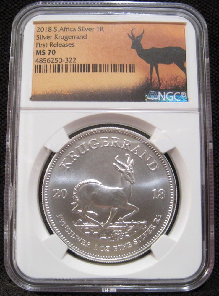 2018 south africa 1 rand ngc ms70 first releases 1oz krugerrand