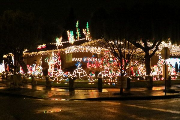 Holiday Lights South Bay 7x7 San Jose California California Christmas Pinnacles National Park