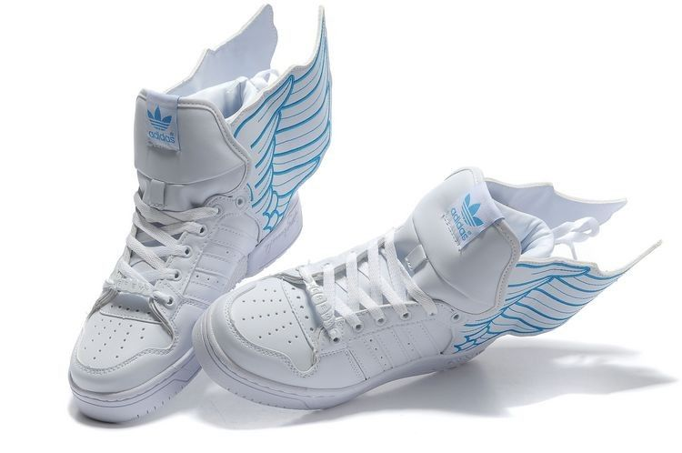 Adidas Originals Js Wings 2.0 White Blue Of Good Quality