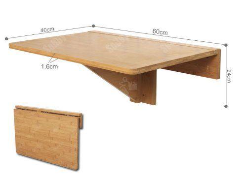 Tavoli Pieghevoli Da Parete.Sobuy Tavolo Da Muro Tavolo Da Parete In 100 Bambu Senza Sedia