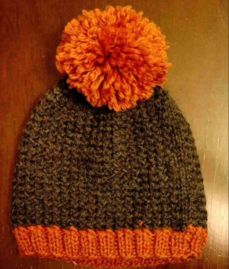 Easy Skyp PomPom Toque - Wooly Ventures | Easy knitting ...