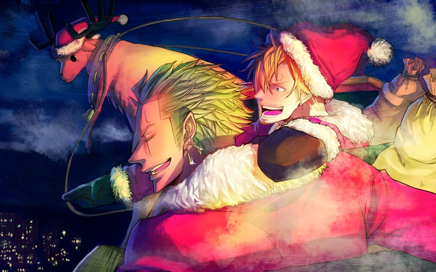 Alfa Img Showing Anime Santa Christmas Wallpapers One Piece Pictures One Piece Manga One Piece Anime