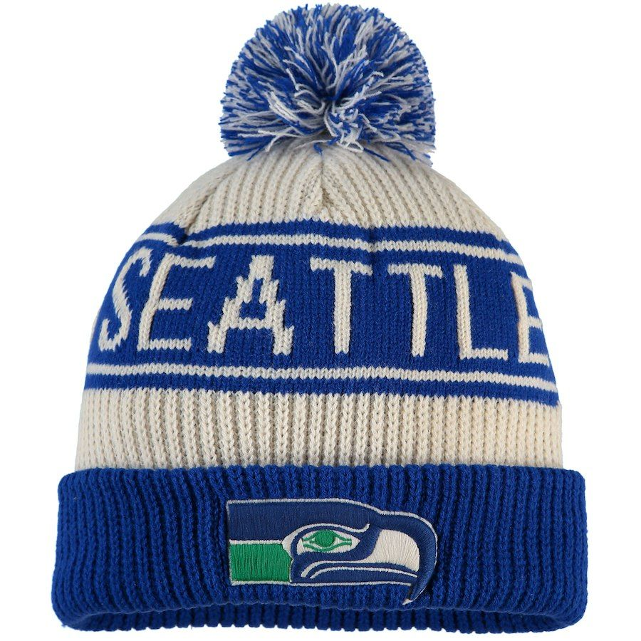 cb98441a0 Men's NFL Pro Line by Fanatics Branded Cream/Royal Seattle Seahawks ...