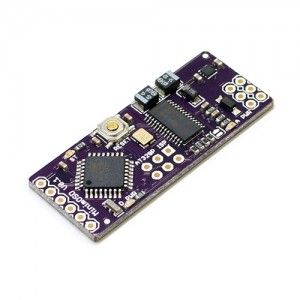 This is the MinimOSD board, a small Arduino based on screen display board with dimentions of only 1.7 x 4.3 x 0.7cm (. It is specifically designed for use with Ardupilot Mega (Arduplane/Arducopter) via the MAVlink