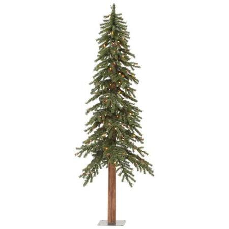 4 pre lit rustic alpine artificial christmas tree multi lights walmart