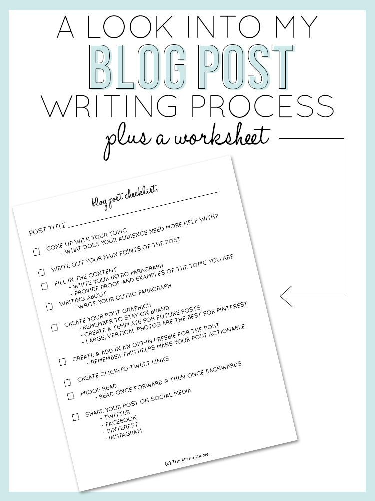 A Look Into My Blog Post Writing Process — Alisha Nicole