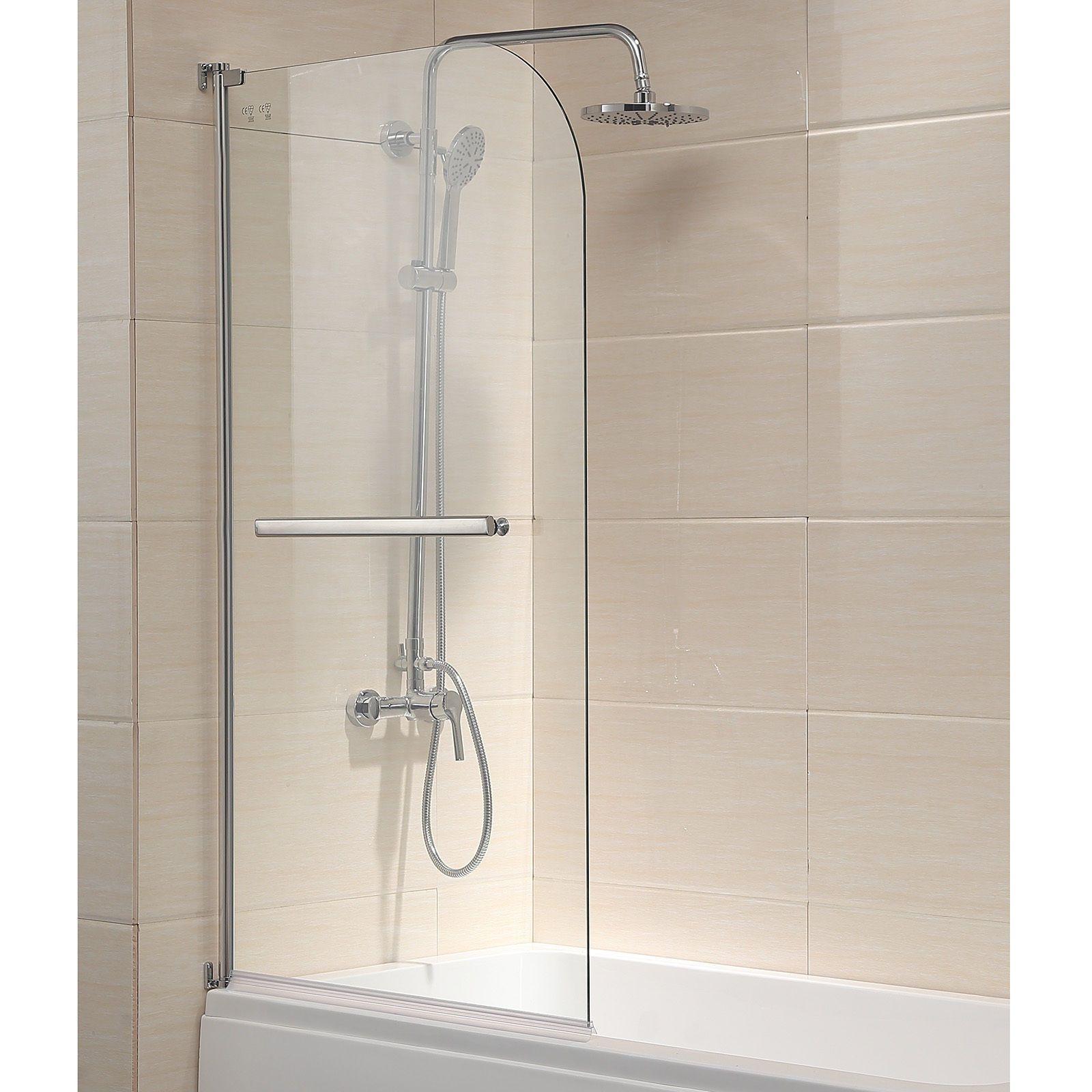 55 X31 Pivot Bath Tub Shower Door Panel Framless 1 4 Clear Glass Chrome Finish Shower Doors Bathtub Shower Doors Bath Shower Doors