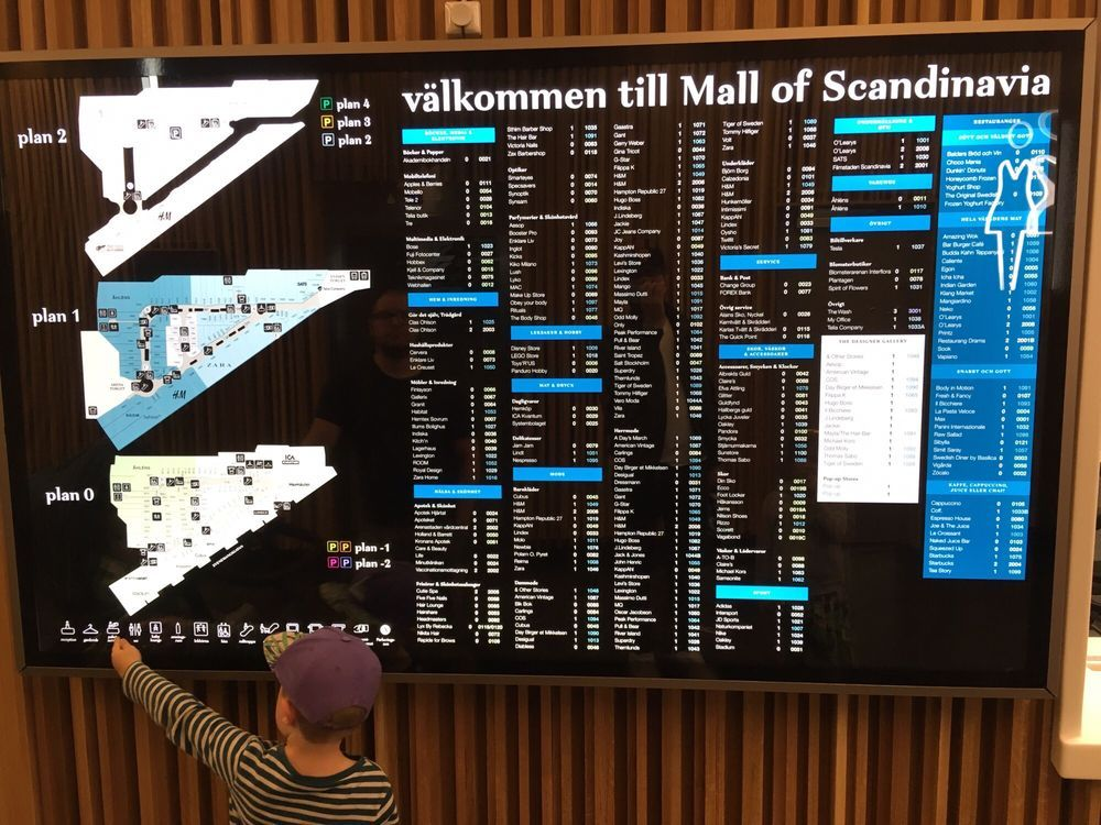 mall of scandinavia karta