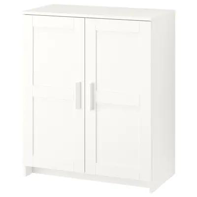 Brimnes White Cabinet With Doors 78x95 Cm Ikea Cabinet Doors White Storage Cabinets Brimnes
