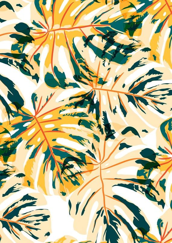 6399# 4 stretch way Newest tropical leaves lycra print for Your 19 SS -Polyester Spandex Matt- Support to Custom lycra Print, Price By Yard