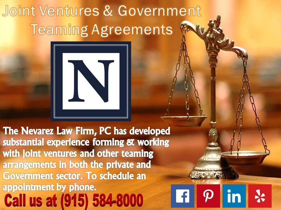 Joint Ventures Government Teaming Agreements Contract Law