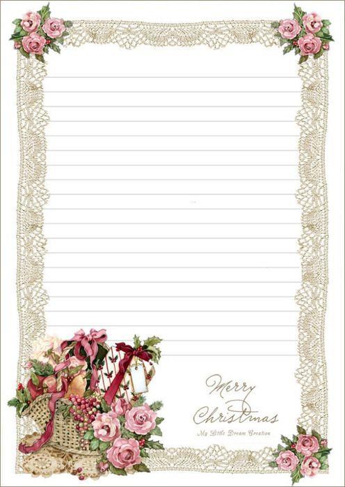 Christmas Writing Paper Printable Stationery Free Printable Stationery Stationery Paper