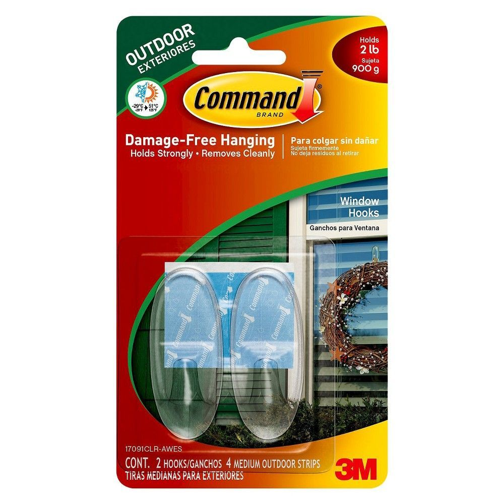 3m Command Medium Clear Window Hook Trim