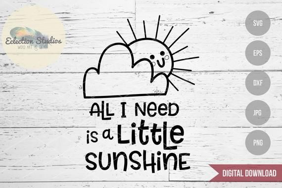 You Are My Sunshine, All I Need Is A Little Sunshine baby shower svg, rainbow baby svg, first birthd
