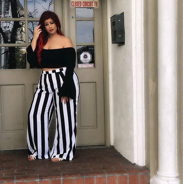 eb2f21542ce ... and white striped  melissa shaver curvemodelyyc - Girls are like county  roads the best ones have curves  thenumanetwork  forever21plus   fashionnovacurve ...