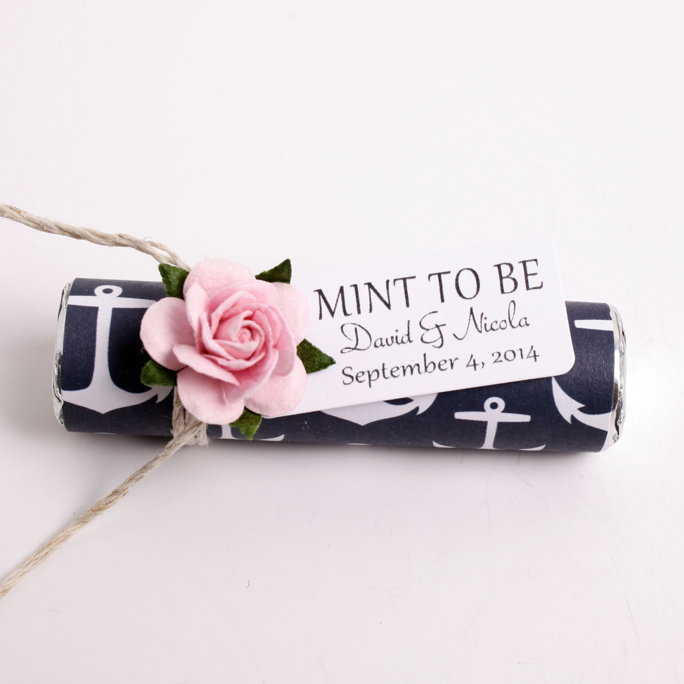 nautical wedding favors, beach wedding, navy and pale pink ...