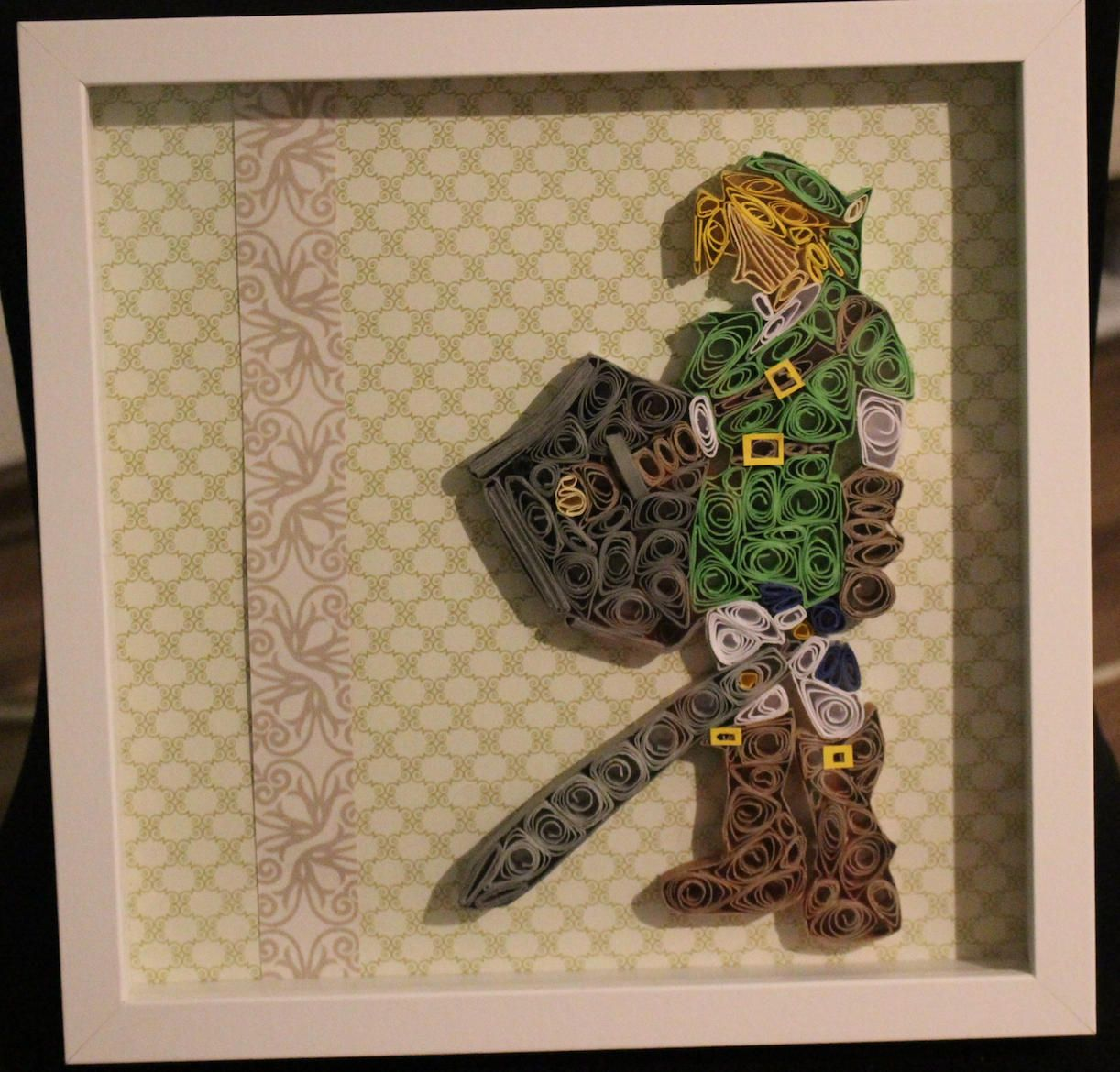 Zelda Link Legend Of Zelda Quilling Abstract Art Home Decor Gifts For Him  Mancave Geeky Gifts