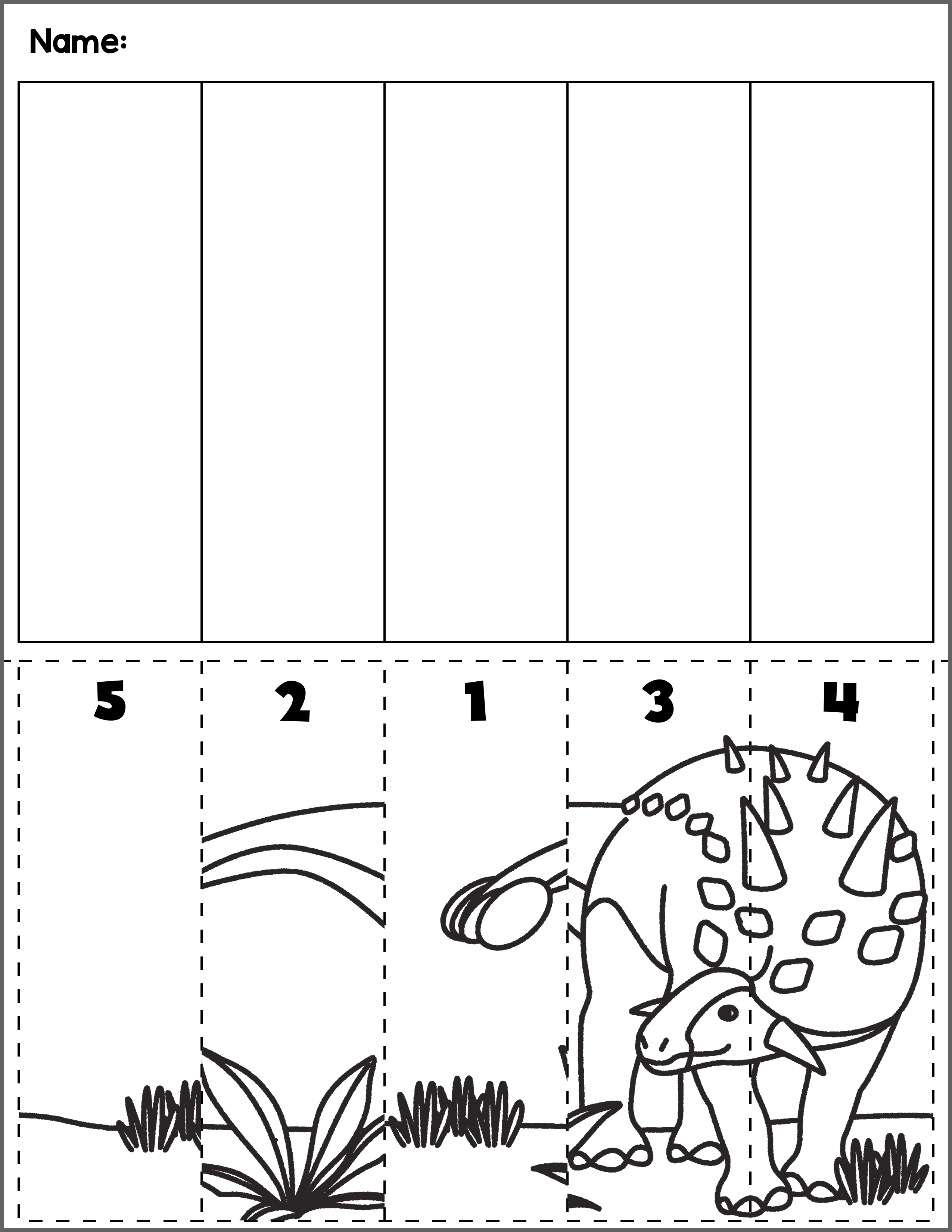 Dinosaurs Worksheets Sequences   Printable Worksheets and Activities for  Teachers [ 3300 x 2550 Pixel ]