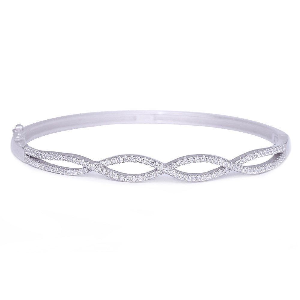 Solid Sterling Silver 925 Infinity Bracelet Gift Boxed. MPwJqcKw