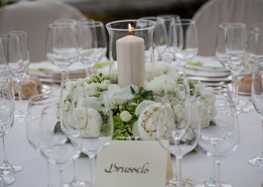 Tavolo Matrimonio ~ White crisp lime green centrepiece wedding in italy matrimonio