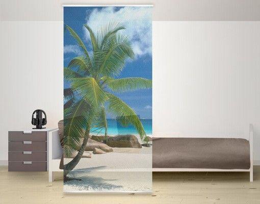 raumteiler traumstrand 250x120cm in 2018 schiebegardinen raumteiler panel curtain. Black Bedroom Furniture Sets. Home Design Ideas