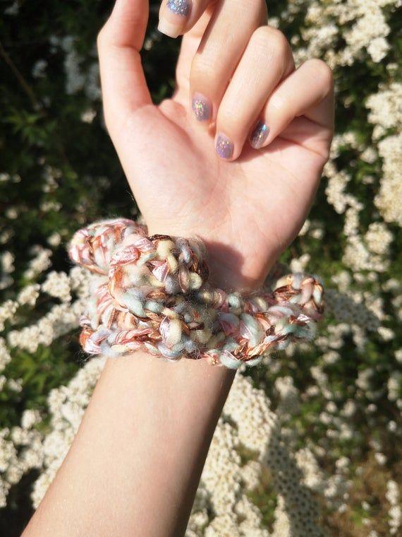 Handmade crochet scrunchie #crochetscrunchies
