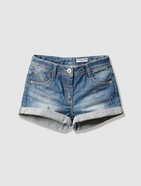 Girl s Denim Shorts Short Fille 60e38eb5578