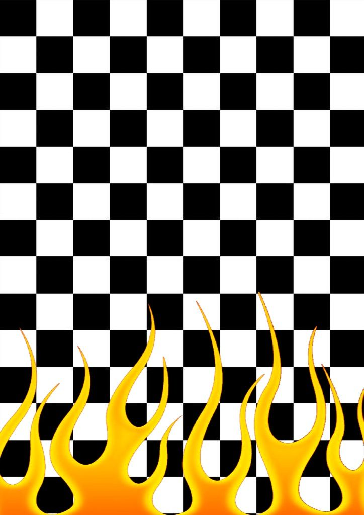 Checkered flames (one side) wallpaper, made by @NastyZen