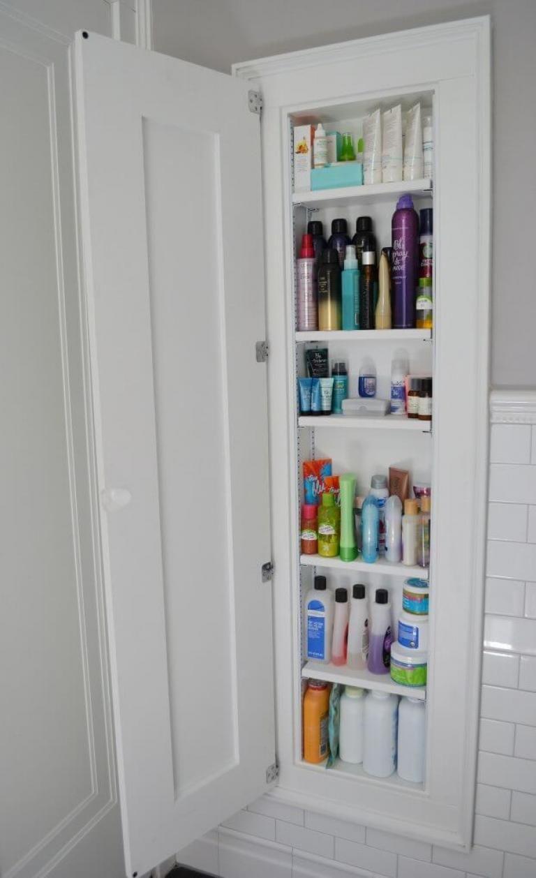 25 Brilliant Built In Bathroom Shelf And Storage Ideas Built In Bathroom Storage Small Bathroom Storage Small Bathroom Storage Cabinet