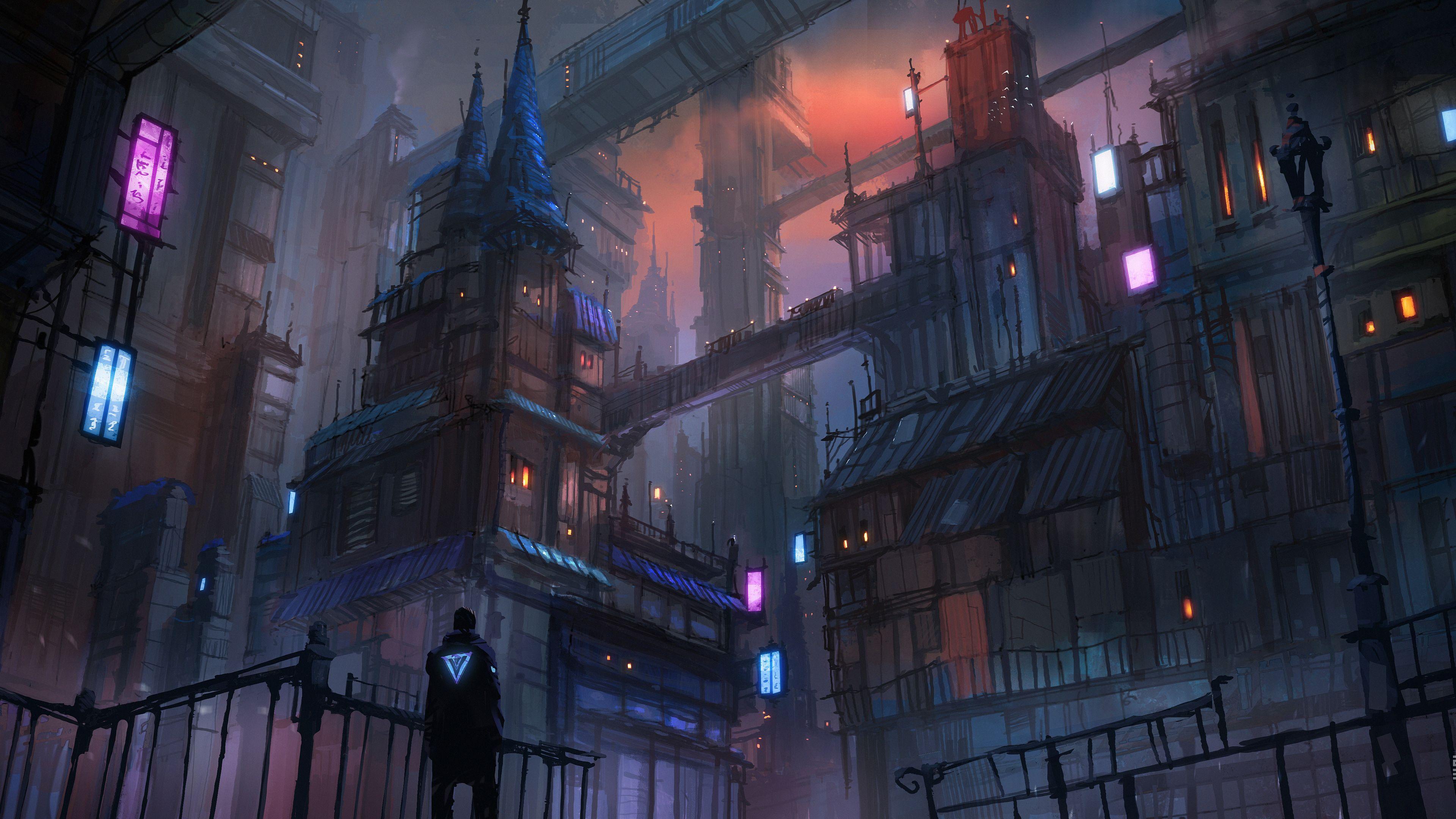 Cyberpunk City Evening Mood 4k Hd Wallpapers Digital Art Wallpapers Deviantart Wallpapers Cyberpunk Wallpapers Ci In 2020 City Wallpaper Cyberpunk City Digital Art