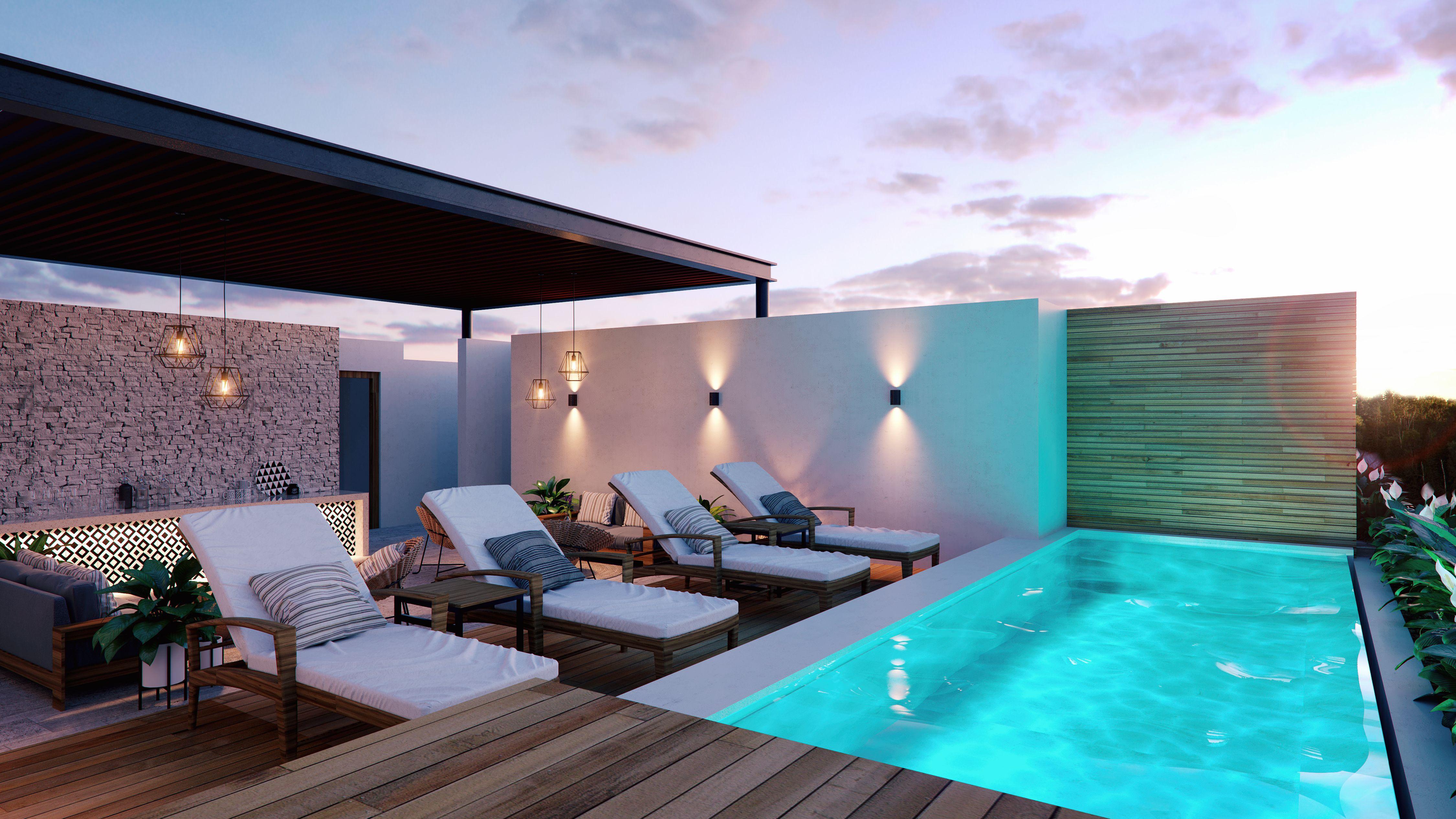 Roof Top Pool In Tulum Rooftop Terrace Design Rooftop Design Terrace Design