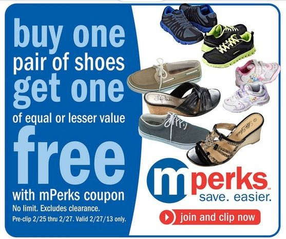 New Meijer mPerks Coupon BOGO Shoes No