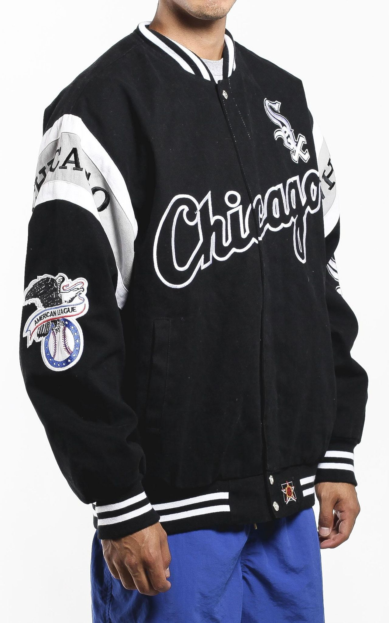 Vintage Chicago White Sox Jacket Sz Xl Chicago White Sox White Sock Jackets [ 2048 x 1280 Pixel ]