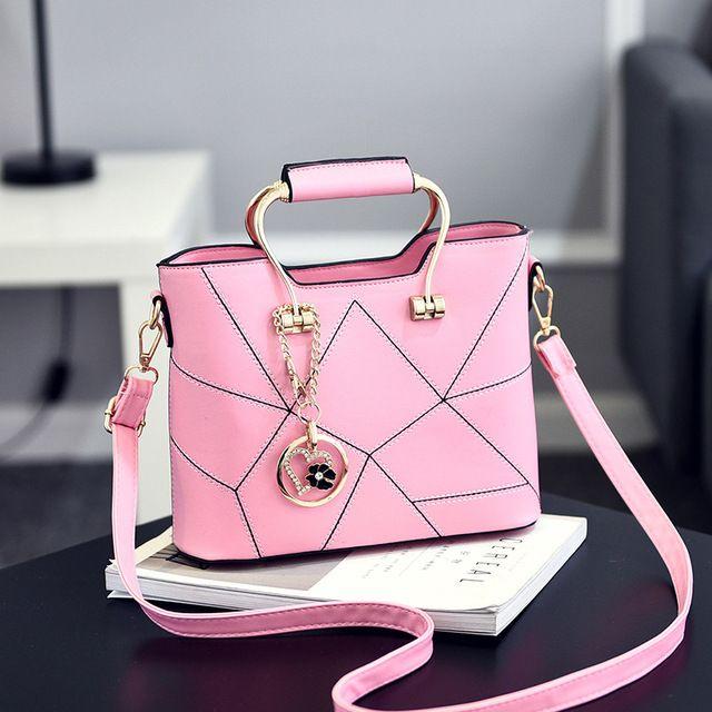 SDRUIAO Messenger Bag Ladies' PU Leather Handbags Shoulder Bags Women Bags Color Black