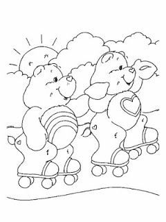 Care Bears Rollerskating Coloring Page You Can Choose A Nice From CARE BEARS Pages For Kids Enjoy Our Free