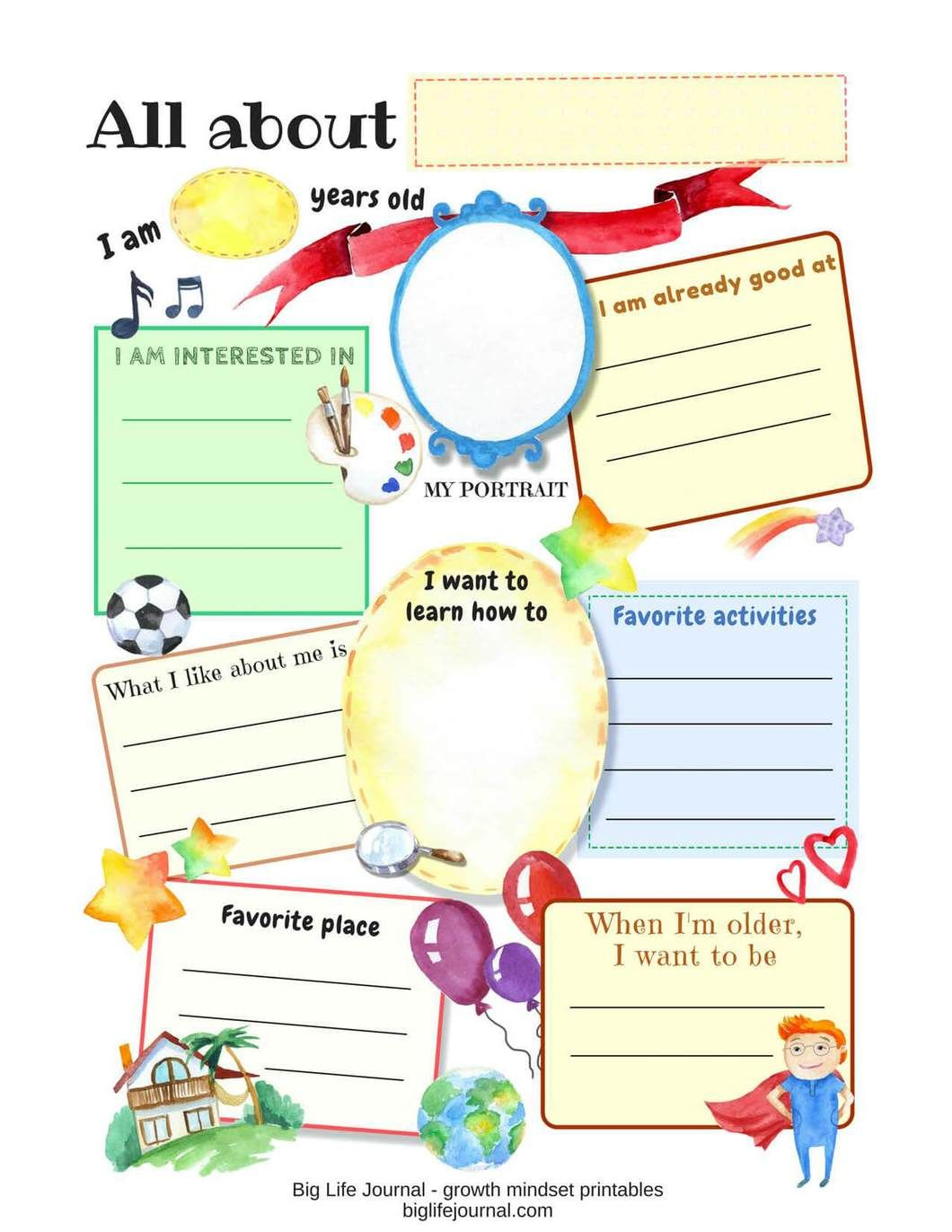 Growth Mindset Printables Kit With Images