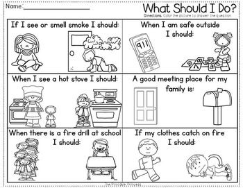 Slobbery image with safety worksheets printable