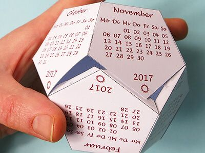 Dodekaeder Kalender Kalender Selber Machen Selber Machen Kalender