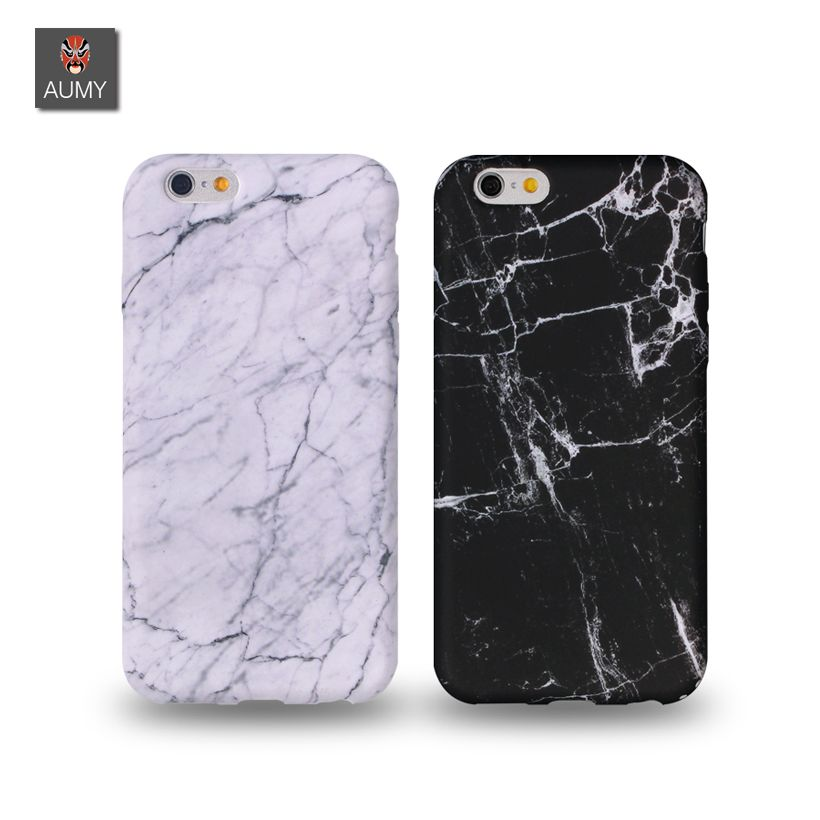 AUMY Marble Texture Phone Case for iphone 6 6s Case Silky Feel Soft  Silecone TPU Coque a6592f7e6cfe