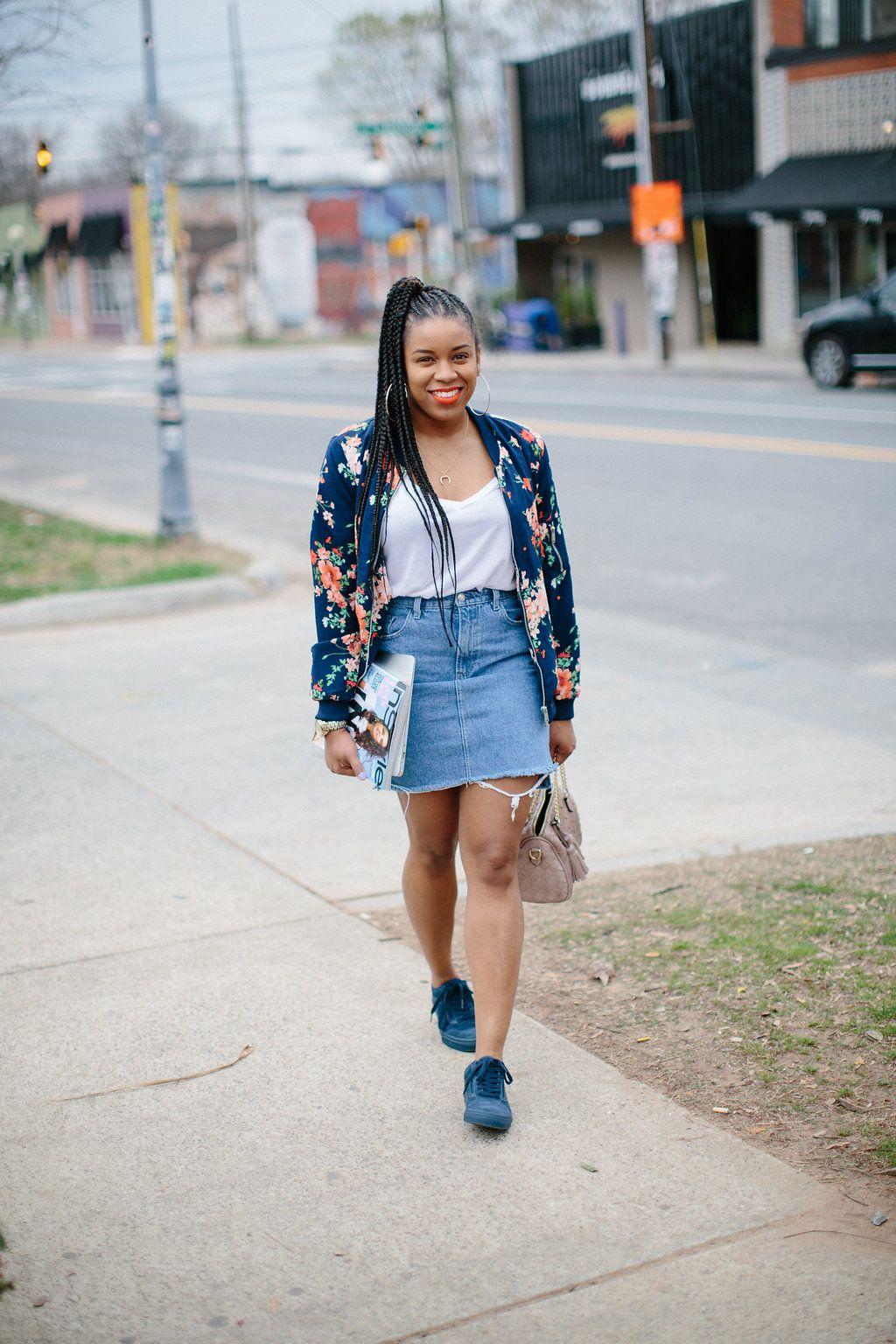 Denim Skirt. #springbreak