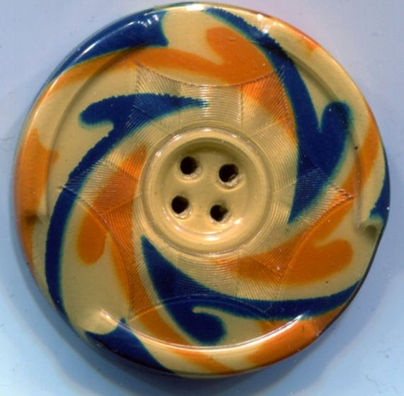 Striking celluloid tight top sewing button. by suzantiquebuttons, $7.50
