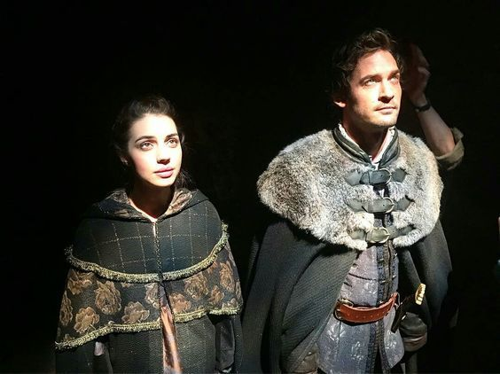 Reign, behind the scenes of season 4. Baby bump? Mary and Lord Darnley.: