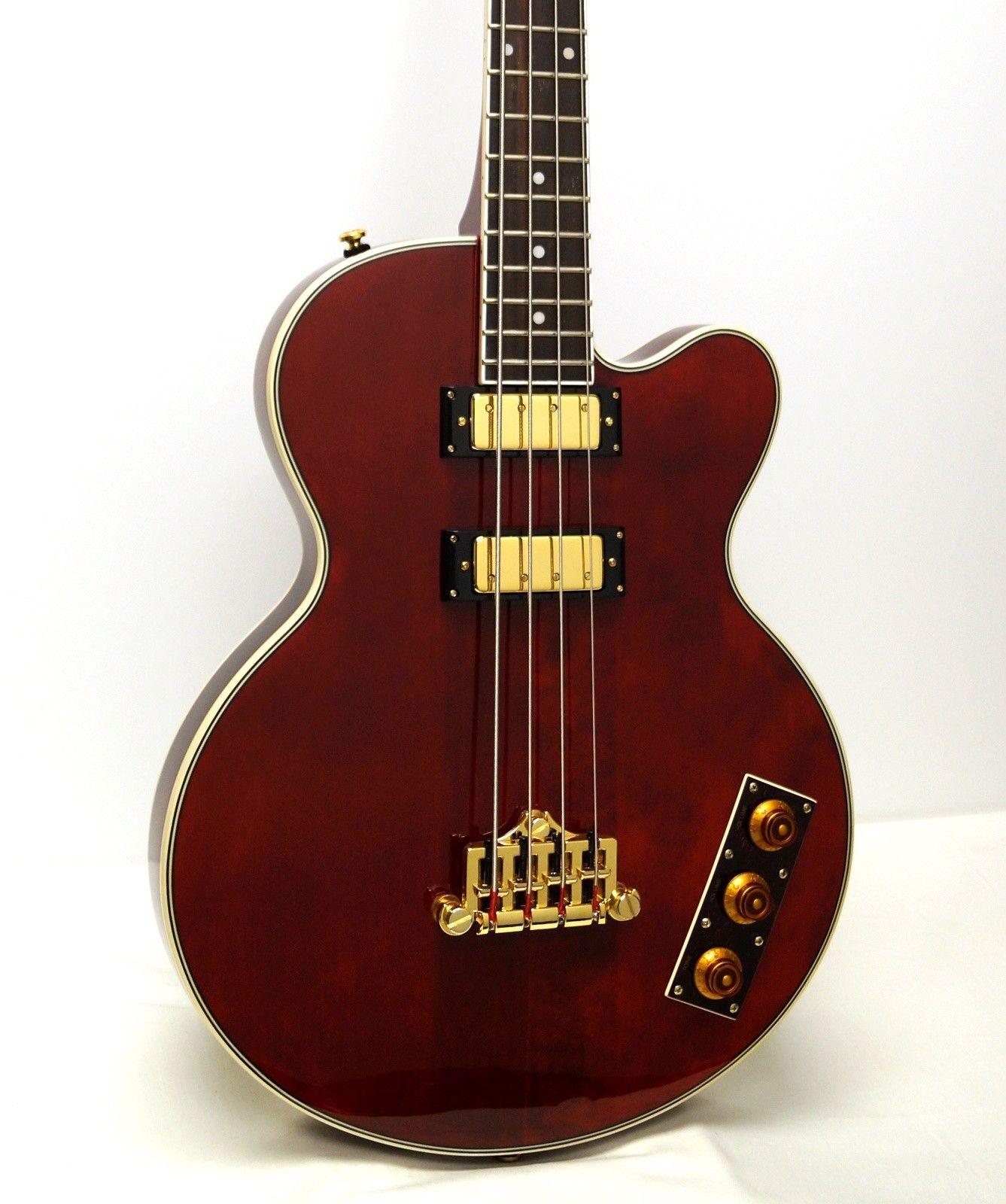 Epiphone Allen Woody Rumblekat Ltd Ed Short Scale Electric Bass Guitar Wine Red Bass Guitar Guitar Electric Bass