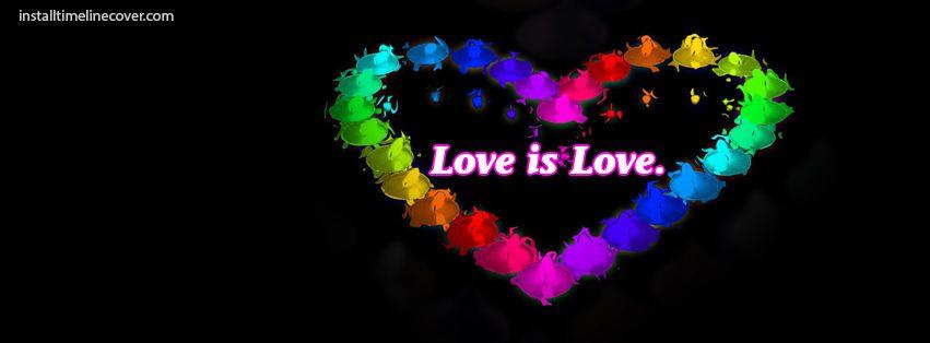 Love Is Love Rainbow Heart Facebook Cover Installtimelinecover Com